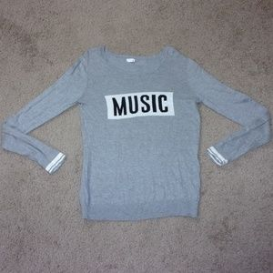 Garage Sweater Music Gray L